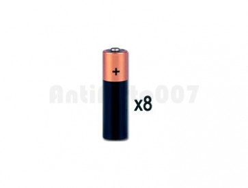 Kit 8 Batterie alcaline stilo AA
